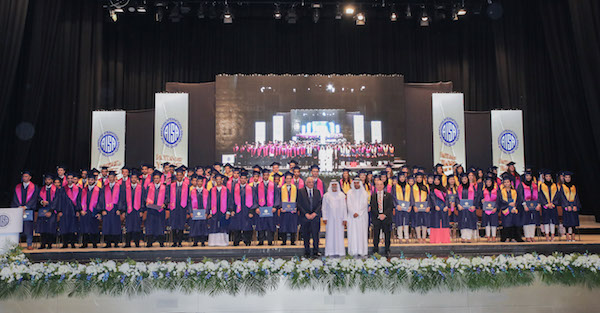 HH Sheikh Nahyan Bin Mubarak Al Nahyan, UAE Minister of Higher Education and Culture attends an Esol school graduation in Abu Dhabi